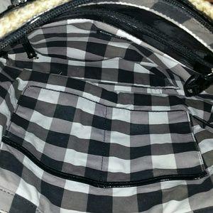 Sarah Violet Bags - Sarah Violet Woven Black Patent Handbag